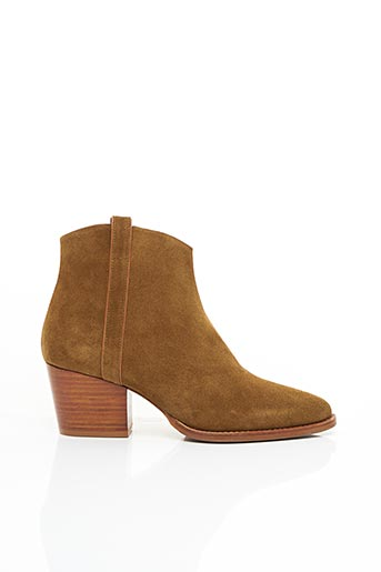 Bottines/Boots marron RIVECOUR pour femme