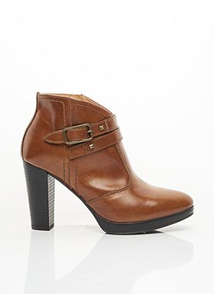 Bottines/Boots marron ELYSA pour femme