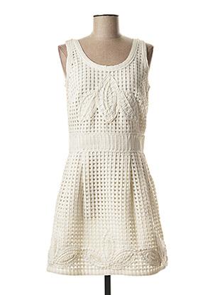 Robe courte blanc ET COMPAGNIE pour femme