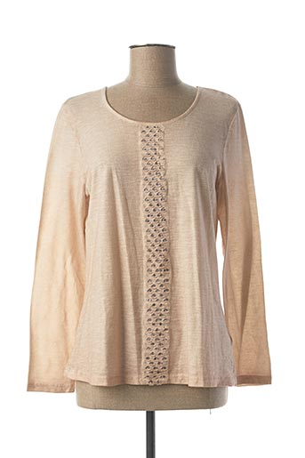 T-shirt manches longues rose BARBARA LEBEK pour femme