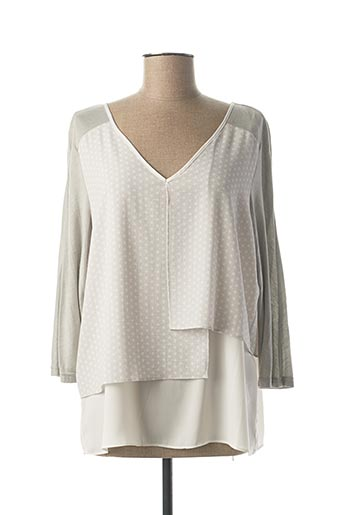 T-shirt manches longues gris EL INTERNATIONALE pour femme