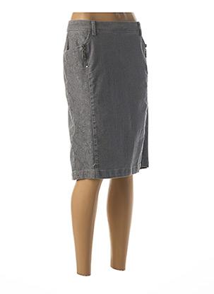 Jupe mi-longue gris ANNE KELLY pour femme