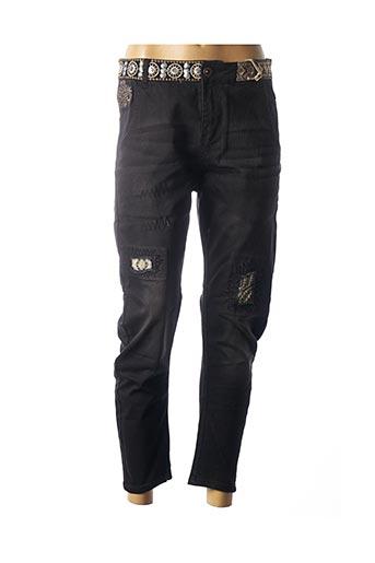 Jeans boyfriend noir DESIGUAL pour femme