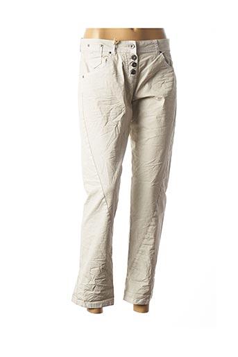 Pantalon casual gris ET COMPAGNIE pour femme