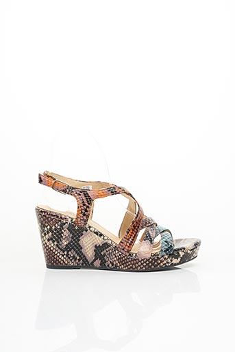 Sandales/Nu pieds orange COCO ET ABRICOT pour femme
