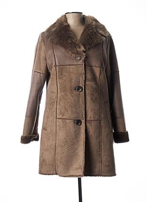 Manteau long marron CHRISTINE LAURE pour femme