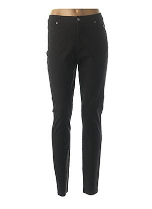 Pantalon casual noir MARBLE pour femme
