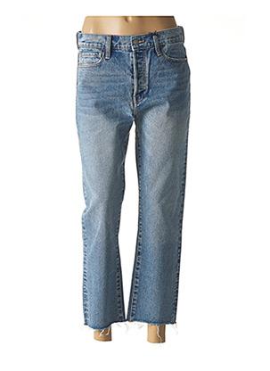 Jeans coupe droite bleu F.A.M. pour femme
