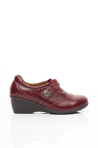 Chaussures de confort rouge LA BOTTINE SOURIANTE pour femme