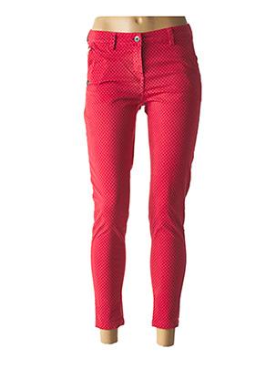 Pantalon 7/8 rouge PAKO LITTO pour femme