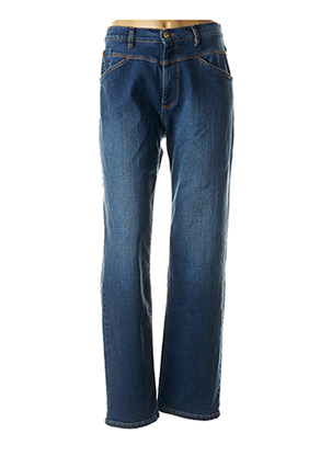 Jeans coupe droite bleu ONE STEP pour femme