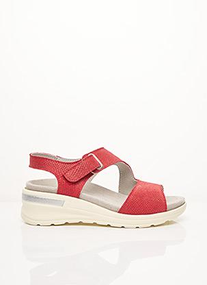 Sandales/Nu pieds rouge ACO pour femme