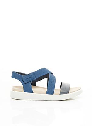 Sandales/Nu pieds bleu ECCO pour femme