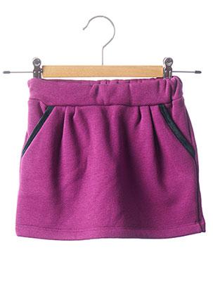 Jupe courte violet MILK ON THE ROCKS pour fille