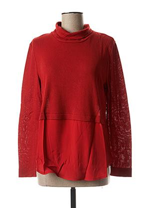 Pull tunique rouge MARIA BELLENTANI pour femme