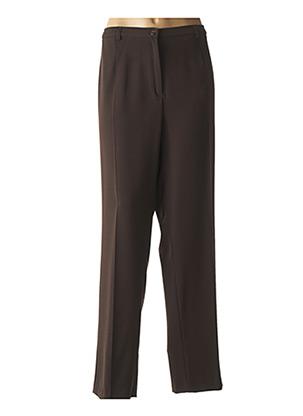 Pantalon chic marron FRANCE RIVOIRE pour femme