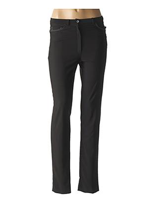 Pantalon casual noir FRANCE RIVOIRE pour femme