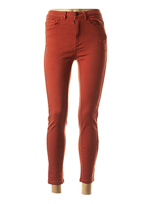 Pantalon 7/8 orange VILA pour femme