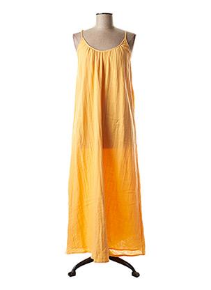 Robe longue orange VILA pour femme