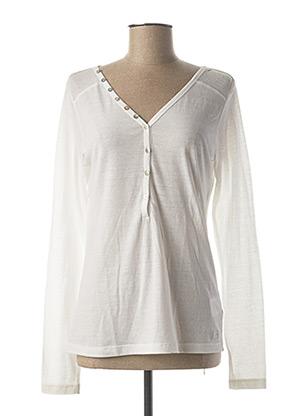 T-shirt manches longues blanc TEDDY SMITH pour femme