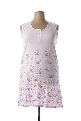 Chemise de nuit violet ARY & BELLE pour femme