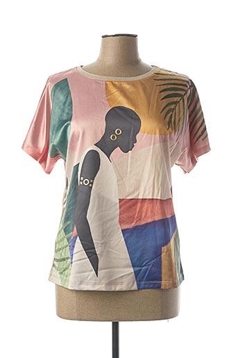 T-shirt manches courtes rose ABRIL pour femme