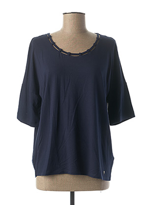 T-shirt manches longues bleu MARBLE pour femme