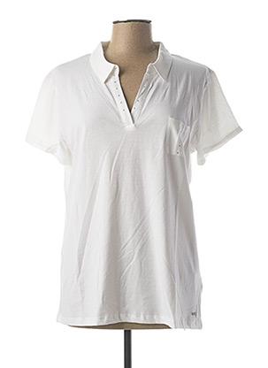 Polo manches courtes blanc FELINO pour femme
