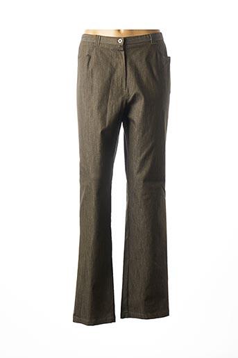 Pantalon casual vert FRANCOISE F pour femme