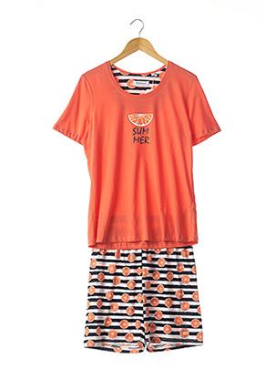 Pyjashort orange RINGELLA pour femme