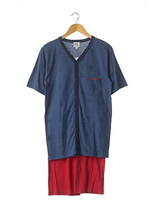 Pyjashort bleu ROSE POMME pour homme