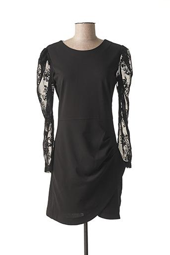 Robe mi-longue noir CHARMING GIRL pour femme
