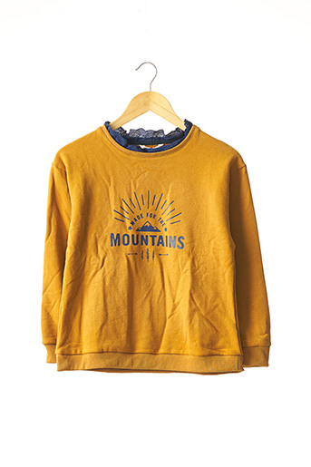 Sweat-shirt jaune MINI MIGNON pour fille