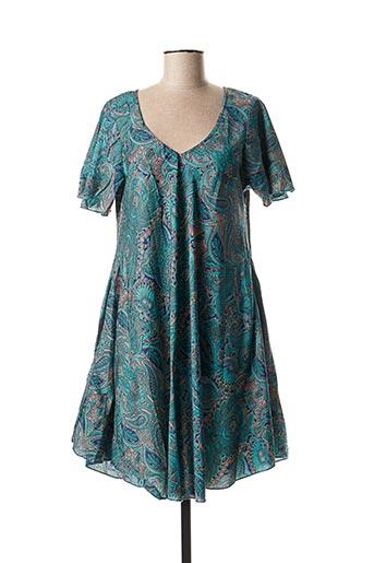 Robe courte bleu ALLER SIMPLEMENT pour femme