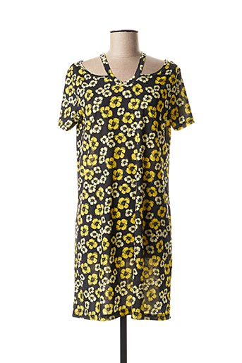 Robe courte jaune COMOUNAREGADERA pour femme