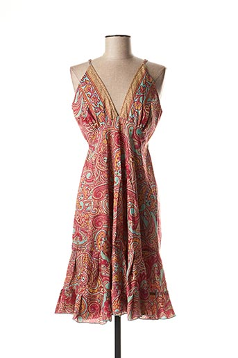 Robe mi-longue rose ALLER SIMPLEMENT pour femme
