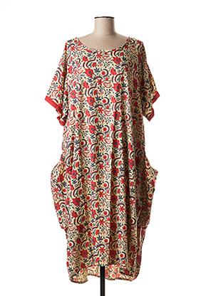 Robe mi-longue rouge ALLER SIMPLEMENT pour femme