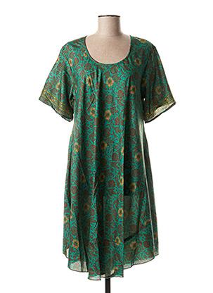 Robe mi-longue vert ALLER SIMPLEMENT pour femme