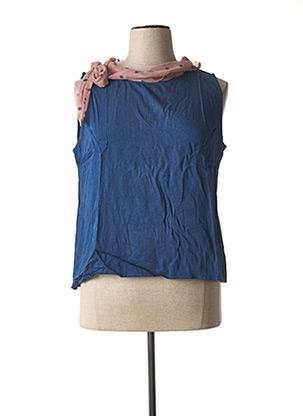 Top bleu PAUL BRIAL pour femme