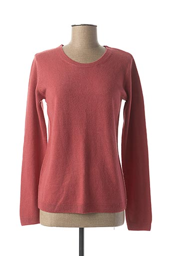 Pull col rond rose CASHMERE FEELING pour femme