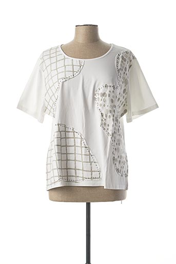 T-shirt manches courtes blanc AURA BY FIGURE LIBRE pour femme
