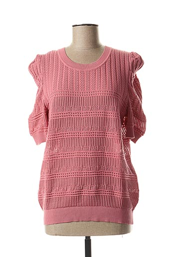 Pull col rond rose MORGAN pour femme