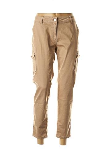 Pantalon casual beige MORGAN pour femme
