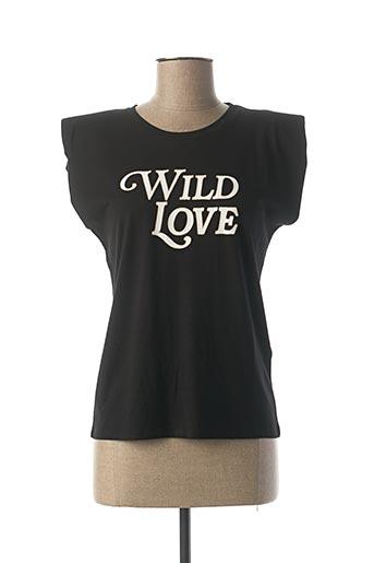 T-shirt manches courtes noir MORGAN pour femme