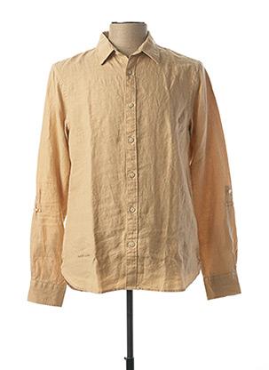 Chemise manches longues beige SCOTCH & SODA pour homme