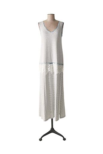 Robe longue gris PEPITA pour femme