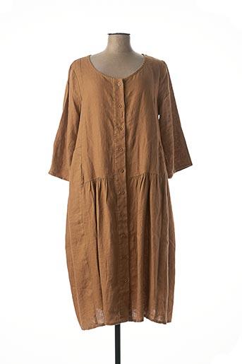 Robe mi-longue beige KOKOMARINA pour femme