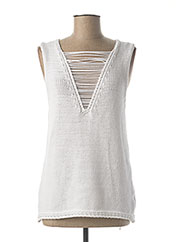 Pull col rond blanc B.YU pour femme seconde vue