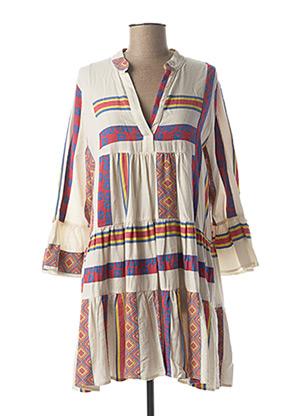 Robe courte blanc BSB pour femme