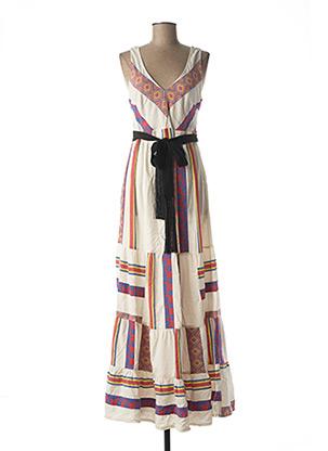 Robe longue blanc BSB pour femme